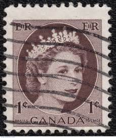 Queen Elizabeth Canada 1 Cent Stamp Value