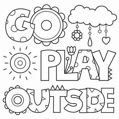 Coloring Outside Pages Playing Play Colouring Printable