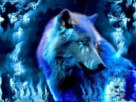 fantasy wolf wallpapers blue wolf dark creatures fantasy