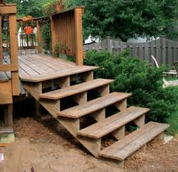 Build Steps For Deck by Wooden Decking Build Wooden Decking Steps