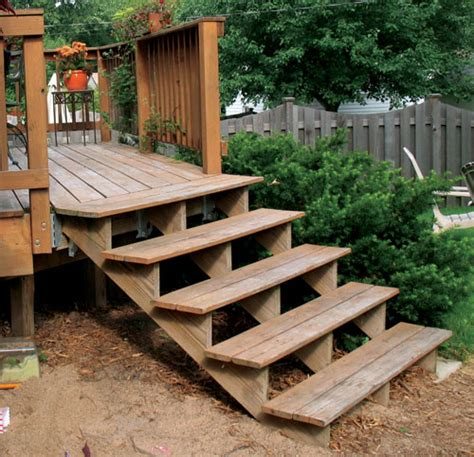 deck steps immediate recommended wood frame deck