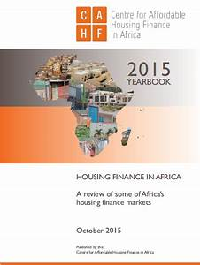 Housing Finance in Africa Yearbook 2015 (6th Edition ...