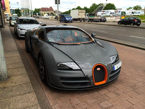 Matte Grey Bugatti Veyron Grand Sport Vitesse In Stuttgart