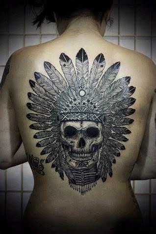 Tatouage Dos Complet Tatouage Amerindien Skull Dos Complet Tatouage Amerindien Tatouage Image