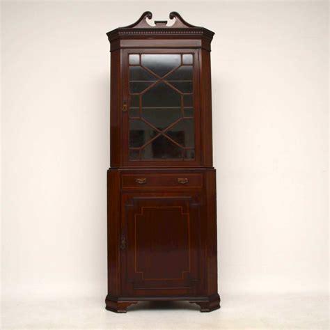 mahogany corner cabinet antique edwardian inlaid mahogany corner cabinet la80819 3949