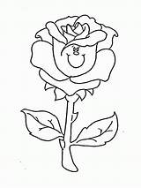 Coloring Pages Rose Roses Printable sketch template