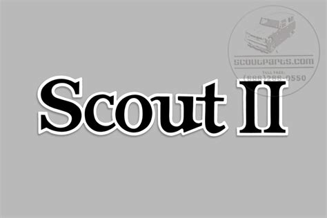 scout ii scout vinyl decal international scout parts