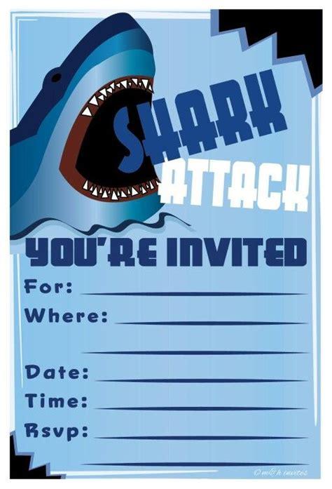 invitation template shark birthday invitations shark