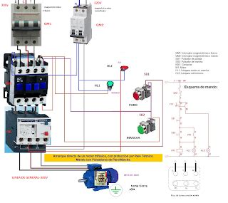 electrical diagrams direct start    phase motor