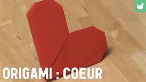 Faire Des Origami : faire un coeur en papier origami youtube ~ Nature-et-papiers.com Idées de Décoration