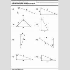 14 Best Images Of Trigonometry Trig Worksheets  Free Printable Trigonometry Worksheets, Right