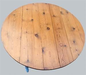 Plateau De Table : table ronde pour cuisine plateau en bois naturel ~ Teatrodelosmanantiales.com Idées de Décoration