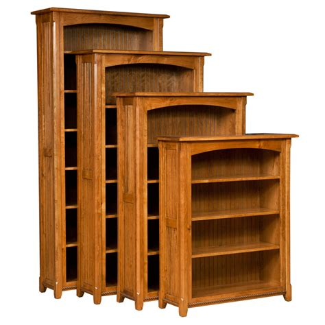 Narrow Pine Bookcase by Amish Bookcases Amish Furniture Shipshewana Furniture Co