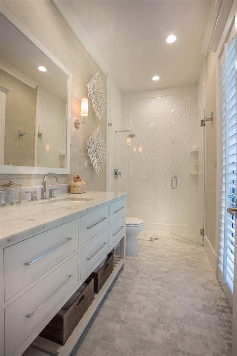 luxurious bathroom  white  neutral tones hgtv