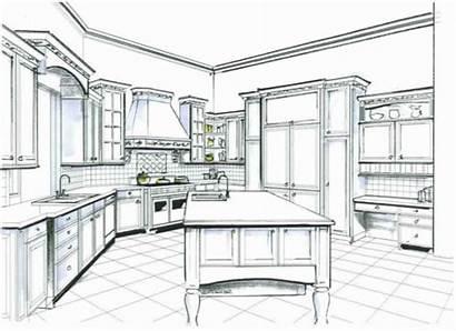 Kitchen Sketch Interior Sketches Kitchens Plans Designs