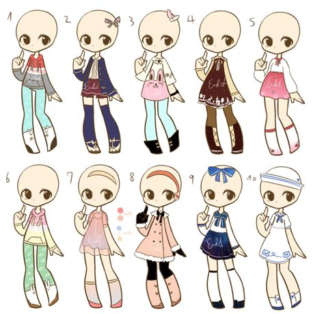 Outfit adopts batch 4 CLOSED by Nuggiez on DeviantArt