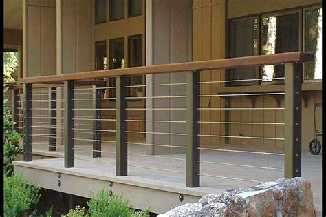 patio railing ideas modern deck  deck railing ideas