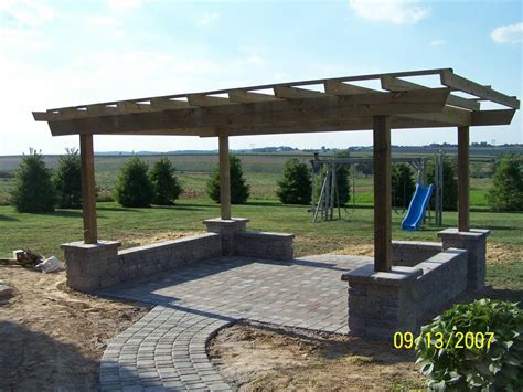 pergola from willow gates landscaping pavers in mohnton