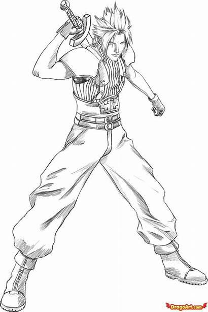 Coloring Drawing Draw Zack Fantasy Final Step