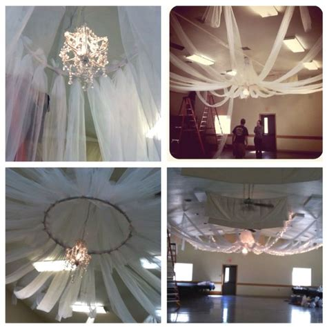decorating ceiling with tulle diy ceiling decor all you