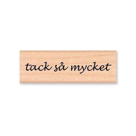 Tack Sa Mycket Vielen Dank Holz Montiert Stempel Mcrs