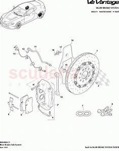 Aston Martin V12 Vantage Rear Brakes Sub System Parts