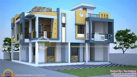 duplex house exterior design pictures  india  description youtube