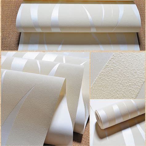 10m 3d Crescent Wave Stripes Embossed Nonwoven Flocking