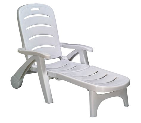 chaise longue pvc blanc chaise longue plastique blanc chaise idées de