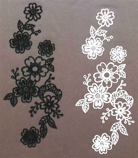 Lace Applique by Flock Heat Transfers Iron On Motif Embroidery Lace