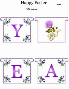 FREE Printable Happy Easter Banner - great for parties ...