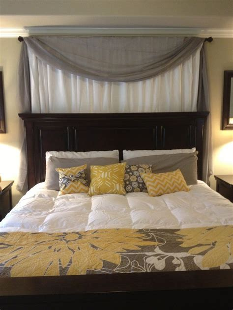 curtain  headboard google search home decoration