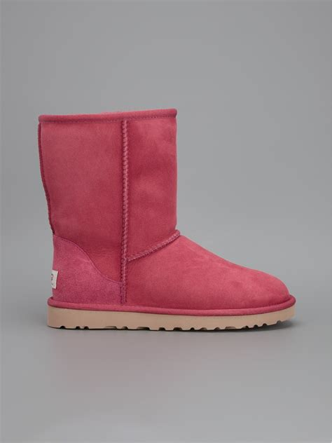 ugg classic short boot  pink lyst