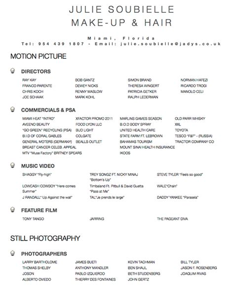 exle resume resume templates hair stylist