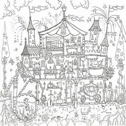 Colouring Palace Princess Poster Coloring Posters Giant