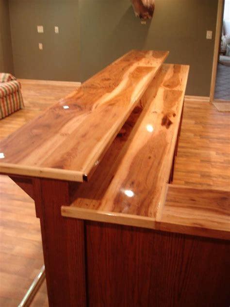 Bar Top Ideas by Custom Bar Top Ideas Custom Made Oak Bar With Hickory