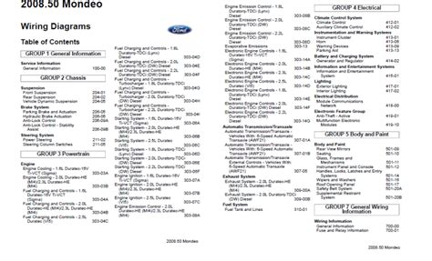 Ford Mondeo Wiring Diagram Pdf by Ford Mondeo 2008 Workshop Manual Mhh Auto Page 1