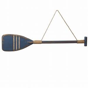 Distressed Blue Oar Wall Decor