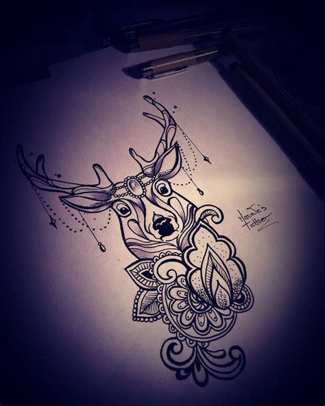 deer drawing tattoo mandala cerf dessin tatouage mandala