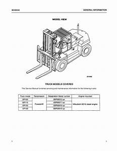Caterpillar Cat Dp150 Forklift Lift Trucks Service Repair Manual Sn Uff1a6 U2026