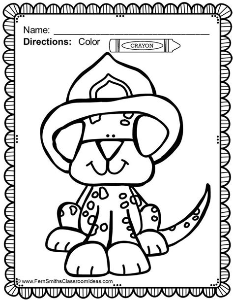 Free Printable Fire Safety Coloring Pages