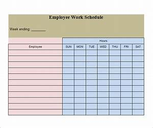 work schedule template 20 download free documents in With example of work schedule template