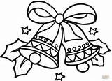 Coloring Bells Christmas Pages Printable Drawing Dot Paper Crafts sketch template