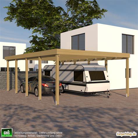 Caravancarport, Grundkonstruktion 6x9  Typ 280 (ohne