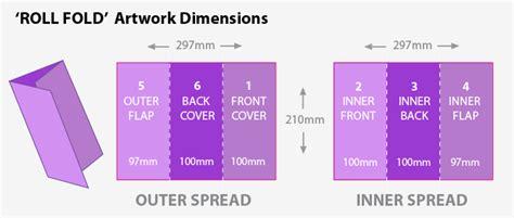 blank leaflet template inner solape folding guide for printing print and marketing blog