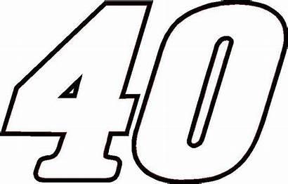 Number 40 Outline Race Nascar Clipart Sticker