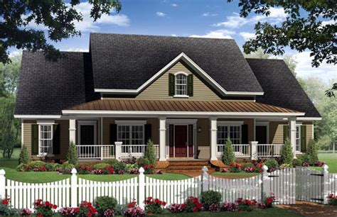 home plans with car garage house plan 59205 country farmhouse traditional plan with