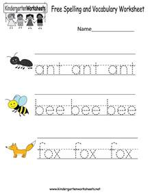 Kindergarten Ela Worksheets Free Spelling And Vocabulary Worksheet Free Kindergarten Worksheet For