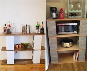 Bar Rangement Cuisine : parpaing creux comment en faire des meubles fonctionnels ~ Teatrodelosmanantiales.com Idées de Décoration
