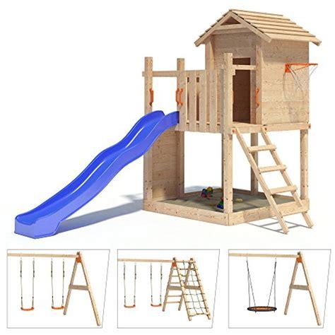 schaukel und rutsche gigantico spielturm kletterturm baumhaus rutsche schaukeln spielhaus kinder de